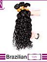 3st / lot brasilianska jungfru hår lockigt obearbetade brasilianskt jungfru hår brasilianska hårknippena