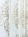 Två paneler Modern / Nyklassisistisk / Rustik Solid Multifärgad Bedroom Linne/Polyesterblandning Sheer gardiner Shades