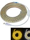 Jiawen vattentät 65W 4000lm 300x5050 SMD LED flexibla ljus remsa (5m längd / 220v)