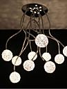 Simple Iron Ceiling Round Iron Creative Bedroom lamp Study lamp Aluminum Wire lamp