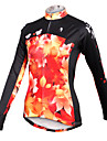 PALADIN Cycling Tops / Jerseys Women\'s Breathable / Quick Dry Long Sleeve Bike High Elasticity 100% Polyester Leaf BlueXS / S / M / L /