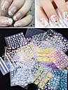 50 Autocollant d\'art de clou Autocollants 3D pour ongles Fleur Maquillage cosmetique Nail Art Design