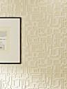 Geometrisk / 3D Bakgrund För hemmet Nutida Tapetsering , Icke-vävt Papper Material lim behövs tapet , room Wallcovering