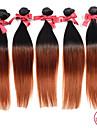 A Ombre Cheveux Peruviens Droit 12 mois 1 Piece tissages de cheveux