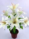 Polyester Lis Fleurs artificielles