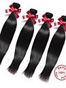 evet hårprodukter obearbetat brasilianskt hår väva 4 buntar 7a brasilianska jungfru håret rakt 400g / lot