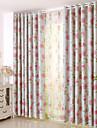 Deux Panneaux Le traitement de fenetre Rustique Moderne Neoclassique Mediterraneen Europeen , Animal Chambre a coucher Polyester Materiel