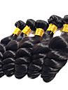 cheveux vague lache Anna vierge bresiliens tisse 1pcs 100g / pcs laches trames de cheveux de vague # 1B extensions noires de cheveux