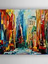 HANDMÅLAD AbstraktModerna En panel Kanvas Hang målad oljemålning For Hem-dekoration