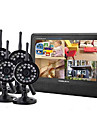 "2.4GHz 4-kanals trådlös DVR Security System 7 ""TFT LCD-skärm med 4 x Wireless IR kamera"