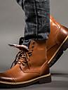 Homme-Exterieure Bureau & Travail Decontracte Work & Safety--Talon Plat-Confort-Bottes-Cuir