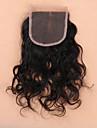 8 12 14 16 18 20 22 24 inch Naturlig svart (#1B) Handknuten Vattenvågor Mänskligt hår Stängning Medium Brun Schweizisk spets 45 gram Medel