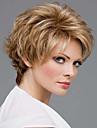 högsta kvalitet mode kort rakt blond färg peruk kvinna syntetiska peruker hår