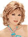 la mode douce plein boum Gloden longueur moyenne boucles perruque de cheveux synthetiques