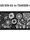 Blomma - Finger / Tå - Andra Dekorationer - av Metall - 6pcs nail plates - styck 12cmX6cm each piece - cm