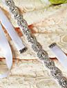 Cetim Casamento / Festa/Noite / Dia a Dia Faixa-Micangas / Cristal / Pedraria Feminino 98 ½polegadas(250cm) Micangas / Cristal / Pedraria