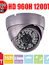 CCTV 1200tvl HD LED CMOS de Sony 3.6mm 48pcs ir armure camera de securite de surveillance de la coupole