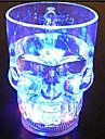 lygf LED-belysning skalle kopp 400ml, kreativa fashionabla gåvor leksaker