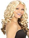 lång mode blond&brun färg syntheic våg peruk
