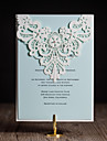 Personalized Folded Wedding Invitations Invitation Cards-50 Piece/Set Artistic Style / Modern Style / Floral Style Art Paper Flowers