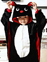 Cute Black Bat Flannel Kids Kigurumi Pajama