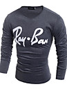 T-Shirts ( Coton biologique / Polyester ) Informel / Travail Rond a Manches longues pour Homme