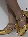 Chaussures de danse(Noir Argent Or Chocolat) -Personnalisables-Talon Cubain-Similicuir-Latine