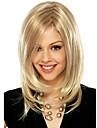 les femmes perruque couleur blond droites longues perruques de cheveux synthetiques moyennes