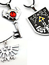 Bijoux Inspire par The Legend of Zelda Cosplay Anime/Jeux Video Accessoires de Cosplay Colliers Noir / Rouge / Argente AlliageMasculin /