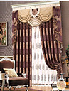 Neoclassical  European One Panel Geometric  Neutral  Dining Room Poly  Cotton Blend Blackout Curtains Drapes