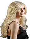 högre kvalitet anf rimliga i pris blont långt syntheic våg peruk
