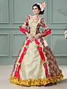 Une Piece/Robes Lolita Classique/Traditionnelle Steampunk® Victorien Cosplay Vetrements Lolita Mosaique Retro Long Robe PourDentelle Lin