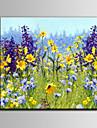Peint a la main A fleurs/BotaniqueMediterraneen Un Panneau Toile Peinture a l\'huile Hang-peint For Decoration d\'interieur