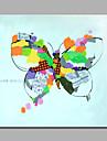 enda modern abstrakt ren handen dra redo att hänga dekorativa oljemålning fjäril