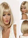 fashion lady blond färg mitt långt hår syntetiska peruker heta försäljning.