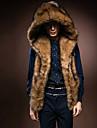 Bărbați Palton Piele Casul/ZilnicMată Fără manșon Iarnă Blană Artificială Blană de Vulpe