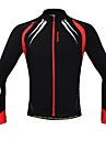 SANTIC Cycling Tops / Jacket / Jerseys Men\'s BikeFront Zipper / Anatomic Design / Windproof / Thermal / Warm / Fleece Lining / Reduces