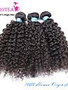 """3 st lot 8 """"-30"""" obearbetade råvaror brasilianska kinky lockigt jungfru hårwefts naturligt svart människohår väva buntar"""