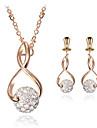 Smycken Set Klassisk Guld 1 Halsband 1 Par Örhängen För Bröllop Party Dagligen Casual 1set Bröllopsgåvor