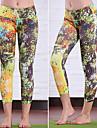 여왕 요가 ® 요가 3/4 스타킹 통기성 / 압축 / 땀 흡수 기능성 소재 높은 탄성 스포츠 착용 요가 여성의