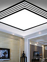 220V 28*28CM 5-10㎡Contracted And Contemporary Black And Square Dome Light Lamp Led Light