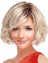 fashion lady kort blond färg lockiga vackra peruker