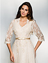 Wedding / Party/Evening / Casual Lace Shrugs 3/4-Length Sleeve Wedding  Wraps