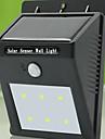 hög kvalitet sol 6 LED-ljus vattentät kroppen induktion lampa / vägglampa / trädgården utomhus lampa
