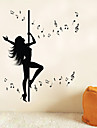 Musique / Romance / Mode / Personnes / Fantaisie Stickers muraux Stickers avion , Vinyl stickers 106*127.5cm