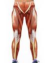 Feminin Imprimeu Legging,Spandex Polyester Subțire