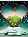 Alla hjärtans dag oljemålningar canvas material med trä bår redo att hänga storlek 70 * 70cm