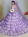 Bröllop Klänningar För Barbie Doll Ljuslila Klänningar För Flicka doll Toy