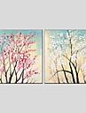 oljemålningar blomma stil duk material med sträckt ram redo att hänga storlek 70 * 70 * 2st