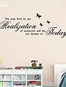 Ord & Citat / Stilleben / Svarta tavlan / Fashion / Mat / Högtid Wall Stickers Väggstickers Flygplan , Vinyl stickers 28cm*78cm